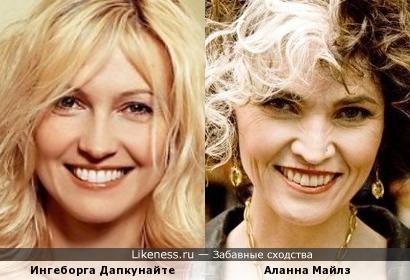 Ингеборга Дапкунайте и Аланна Майлз