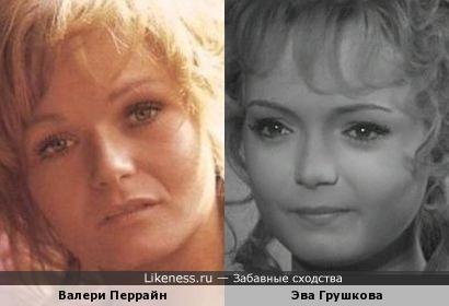 Валери Перрайн и Эва Грушкова: кукольные мордашки