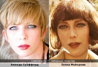 Аманда Суоффорд напомнила Елену Майорову