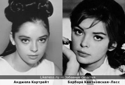 Барбара Квятковская-Ласс и Анджела Картрайт похожи