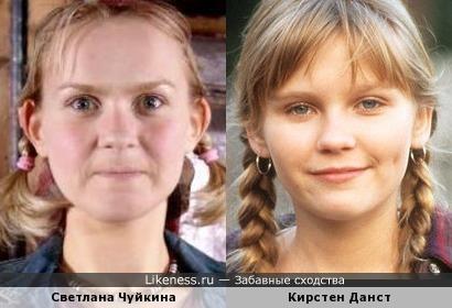 Кирстен Данст и Светлана Чуйкина