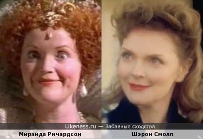Миранда Ричардсон и Шэрон Смолл