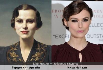 Портрет Маргарет, герцогини Аргайл и Кира Найтли