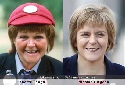 Не претендуя на лавры первооткрывателя, просто делюсь тем, что в Британии известно всем - премьер Шотландии и клоунесса из 70-тых
