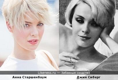 Анна Старшенбаум и Джин Сиберг