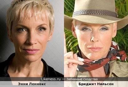 Энни Леннокс и Бриджит Нильсен, типажные блондинки