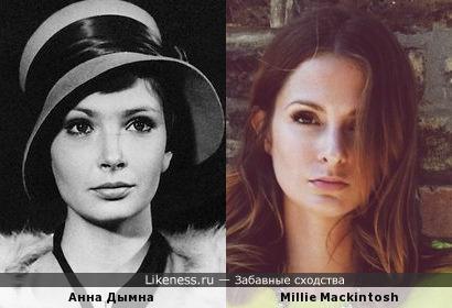 Модель Милли Макинтош (Мандерсон) и Анна Дымна