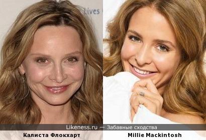 Калиста Флокхарт и Милли Макинтош