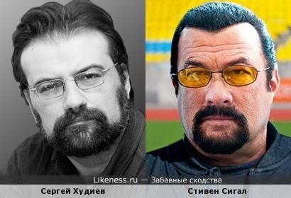 """Сергей Худиев, обозреватель портала """"Взгляд"""", и Стивен Сигал"""