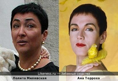 Испанская певица Ана Торроха (Ana Torroja) и Лолита