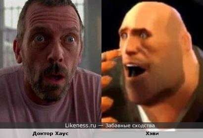 Доктор Хаус похож на Хэви из Team Fortress 2