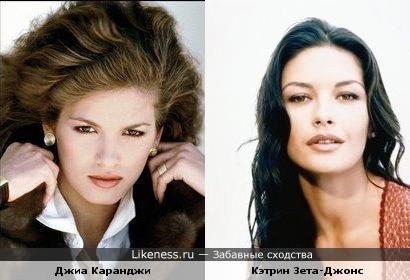 Джиа Каранджи похожа на Кэтрин Зета-Джонс