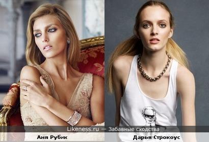 Аня Рубик похожа на Дарью Строкоус