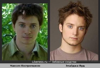 Максим Костромыкин и Элайджа Вуд похожи