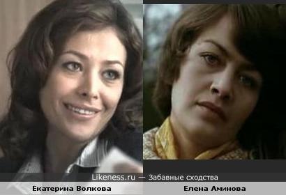 Екатерина Волкова похожа на Елену Аминову