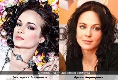 Балерина Екатерина Борченко похожа на Ирину Медведеву