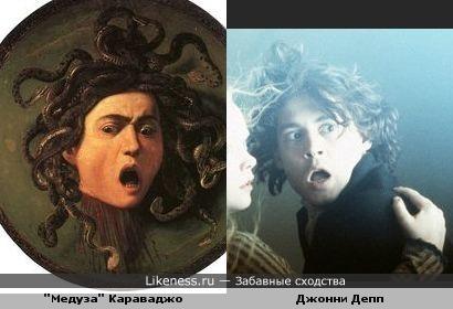 Медуза с картины Караваджо напомнила Джонни Деппа