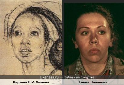 Женский портрет работы Н.Фешина напомнил Елену Папанову