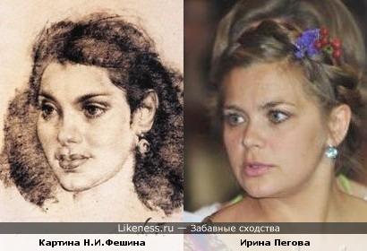 Картина Н.Фешина напомнила Ирину Пегову