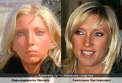 Марианджела Мелато похожа на Светлану Мастеркову