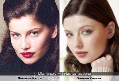 Летиция Каста похожа на Эмилию Спивак