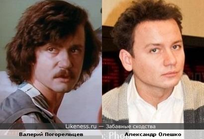 Валерий Погорельцев похож на Александра Олешко