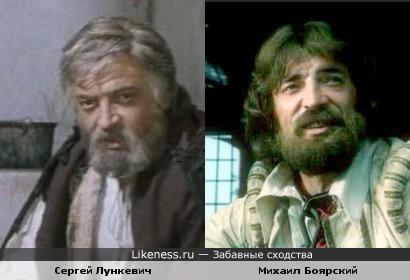 Сергей Лункевич похож на Михаила Боярского