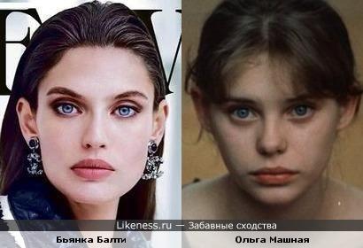 Бьянка Балти похожа на Ольгу Машную