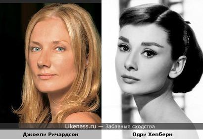 Джоели Ричардсон напомнила Одри Хепберн