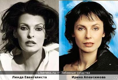 Линда Евангелиста на этом снимке напомнила Ирину Апексимову