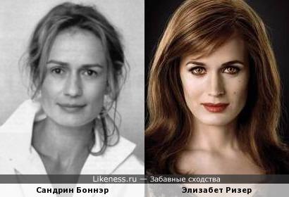 Сандрин Боннэр похожа на Элизабет Ризер