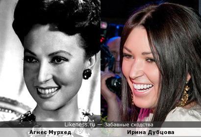 Агнес Мурхед похожа на Ирину Дубцову