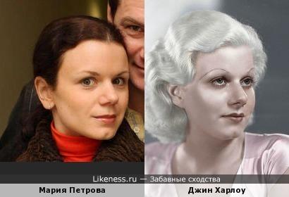 Мария Петрова напоминает Джин Харлоу