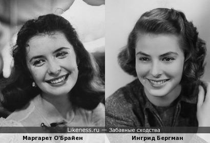 Маргарет О'Брайен напомнила Ингрид Бергман