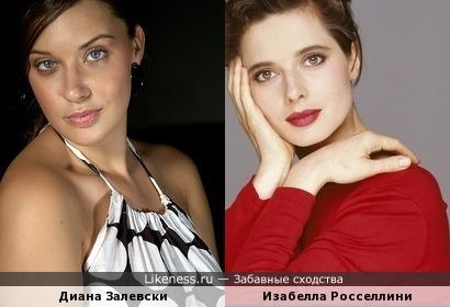 Диана Залевски напомнила Изабеллу Росселлини