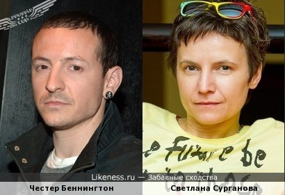Честер Беннингтон и Светлана Сурганова