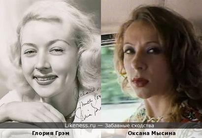 Глория Грэм напомнила Оксану Мысину