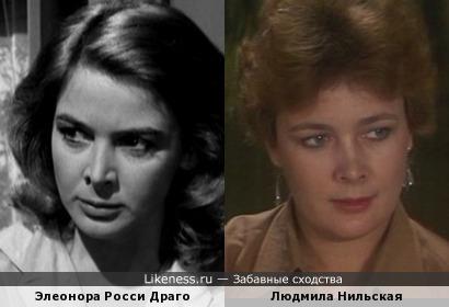 Элеонора Росси Драго и Людмила Нильская