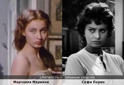 Марчелла Мариани и Софи Лорен