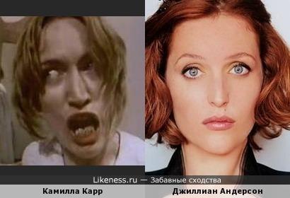 Камилла Карр напомнила Джиллиан Андерсон