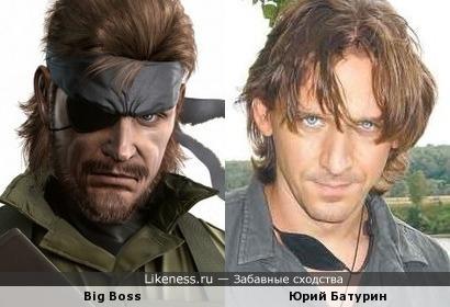 Персонаж видеоигры и Юрий Батурин (повязка сползла)