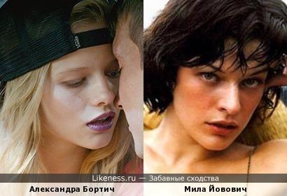 Александра Бортич и Мила Йовович