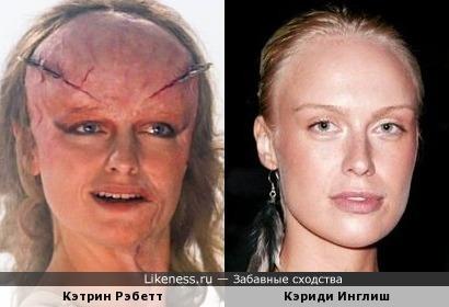 Кэтрин Рэбетт в гриме напомнила Кэриди Инглиш