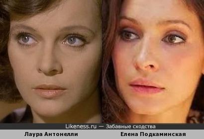 Лаура Антонелли и Елена Подкаминская