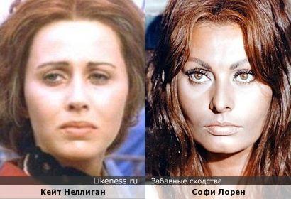 Кейт Неллиган и Софи Лорен