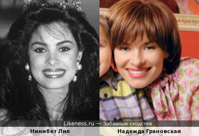 """Нинибет Лил (""""Мисс Мира 1991"""") и Надежда Грановская"""