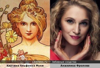 Картина Альфонса Мухи и Анжелика Фролова