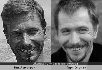 Каскадер Вик Армстронг (дублер Харрисона Форда) и Гари Олдмен