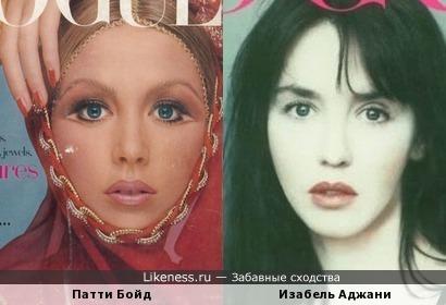 Патти Бойд и Изабель Аджани