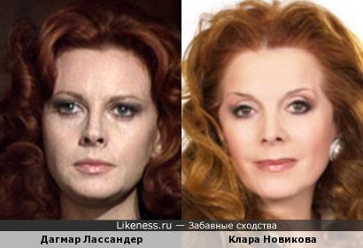 Дагмар Лассандер и Клара Новикова